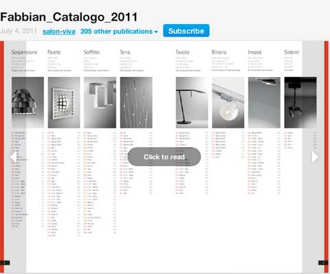 Pubblicazione catalogo on line