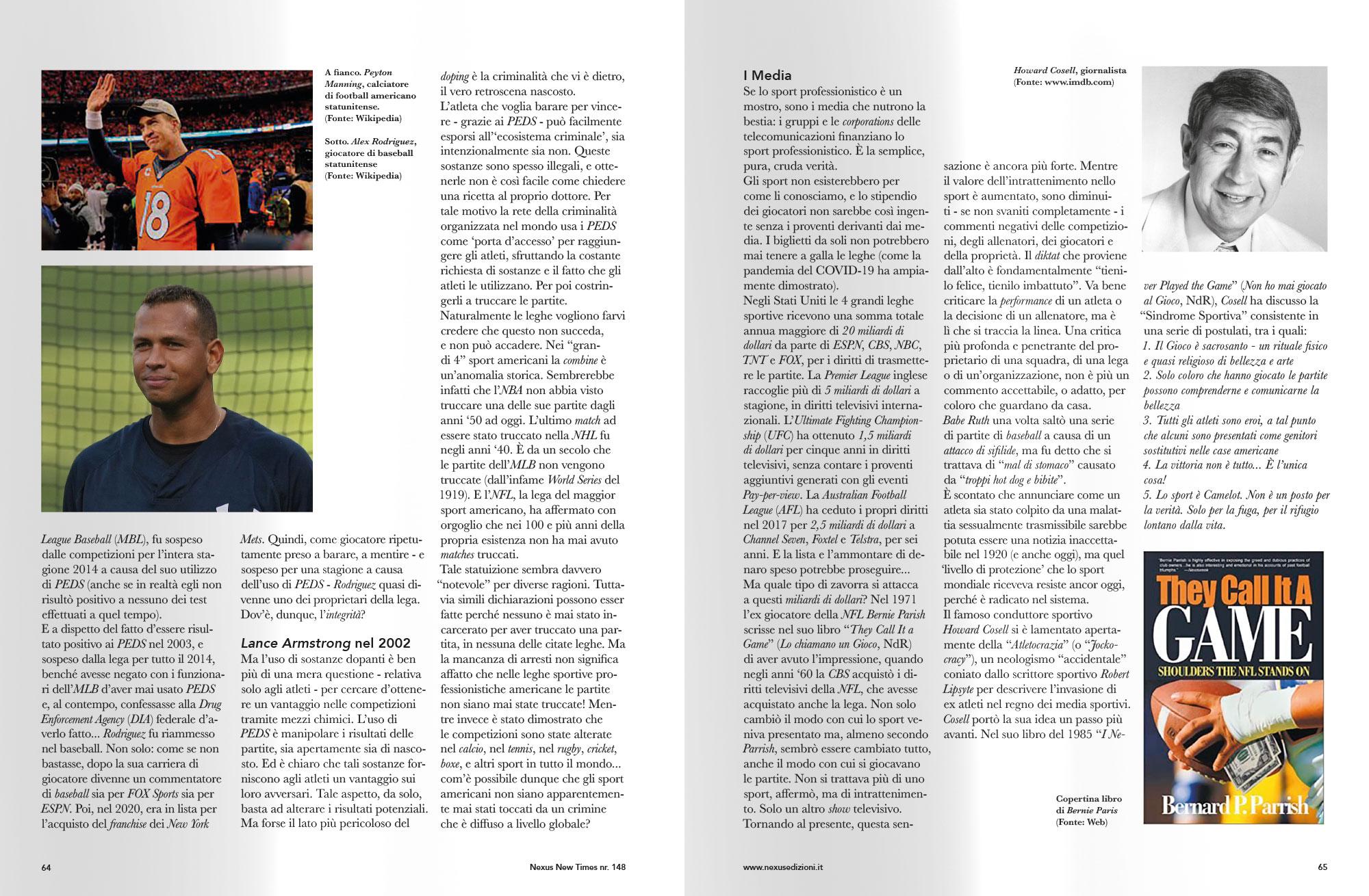 Progettazione grafica riviste - pagine articoli