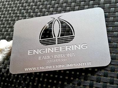 Biglietto da visita acciaio