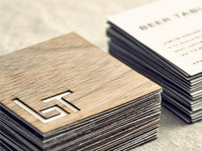 Biglietto da visita legno
