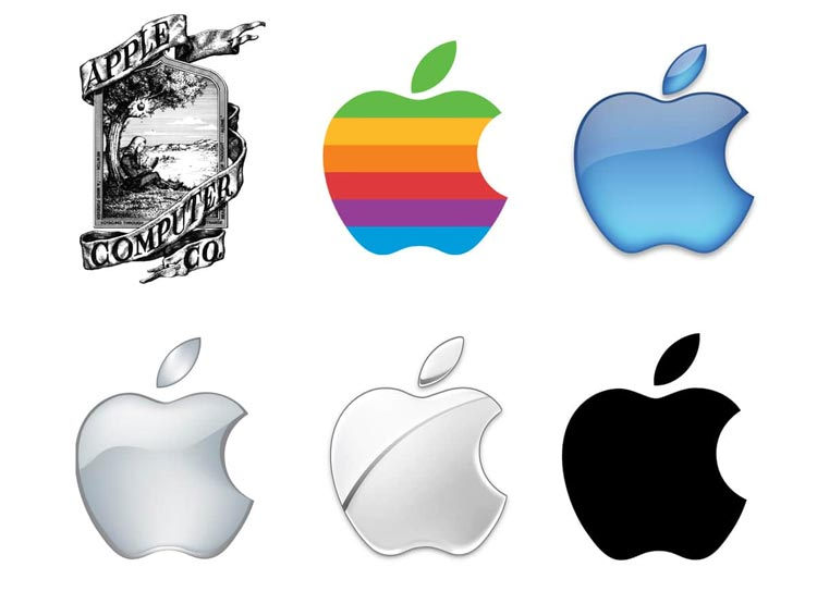 restyling del logo apple