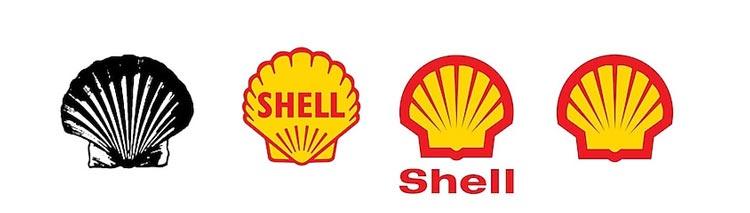 restyling del logo shell